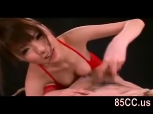 Mosaic; horny bondaged sex by bikini girl 02