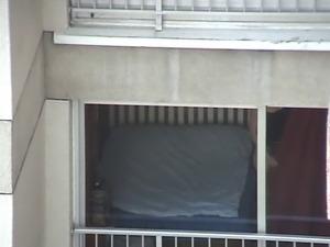 Neighbour  sexy view (voyeur spycam thong ass HD)