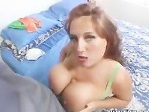 her stepson measured her big tits and fucked her