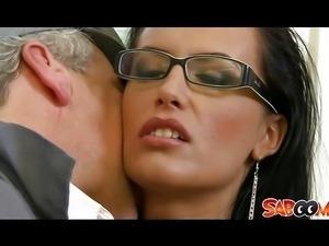 Horny secretary fucking