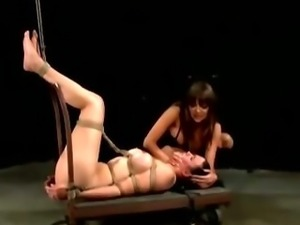 Lezdom mistress facesits poor slut victim