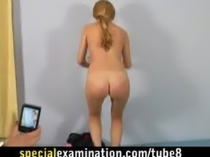 Rough gyno check for sweet blonde girl