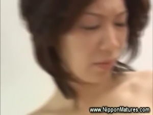 Horny asian MILF sucks and fuck free