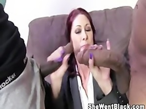 Big Tit MILF fucked by big Black Cocks