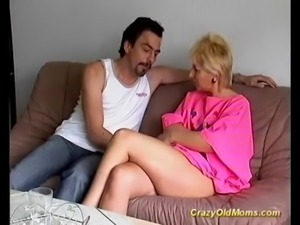 Crazy old mom gets fucked hard free