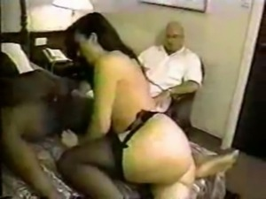 Cuckold pays for diner and hotel and watches his wife get used free