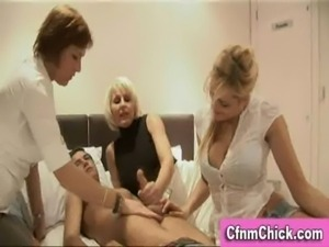cfnm group handjob free
