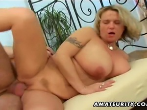 A busty blonde amateur girlfriend homemade hardcore action with blowjob,...