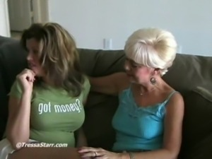 Mature Blonde and young couple free