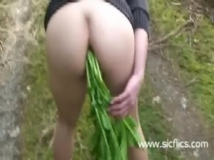 Huge anal vegetable hidden in h ... free