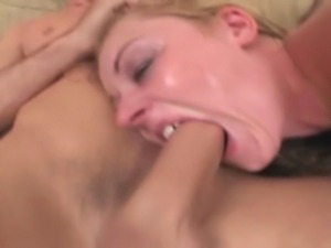 22 year old blonde with a 36 inch ass does rough anal, DP, and DAP with a...