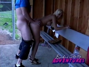 Barbi Sinclair has dirty fun in the dugout regardless of getting caught or not.