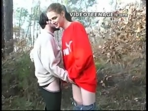 teen sucks boyfriend in forest free