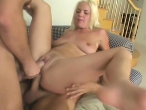 20 year old blonde does rough anal and DP fucking with 2 enormous...
