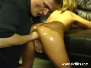 Amateur girl brutally fisted an ... free