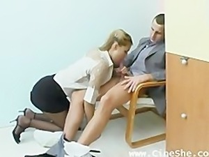 Very Hot Russian Amateur Secretary