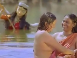 Indian village ladies bathing nude in pond from movie Virgin Goat