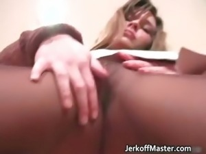 Attractive brunette hoe is stripping part4