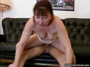 Nasty brunette housewife goes crazy part1