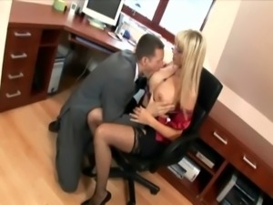 Secretary in thigh highs fucking at the office free
