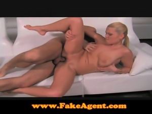 FakeAgent Blonde MILF goes all the way in casting