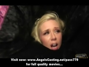 Innocent hot blonde in a box fucked hard from behind on bed free
