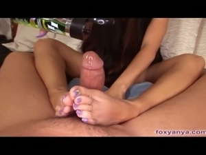 Foot job mistress