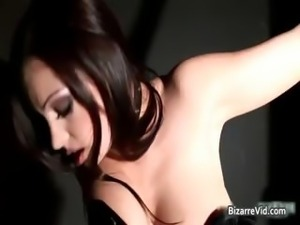 Awesome brunette honey Aria Giovanni part1