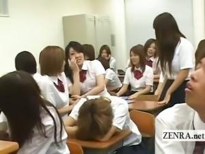 Subtitled Japanese nudist school forgetful schoolgirl