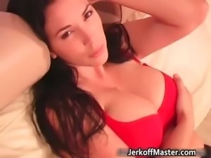 Hot sexy nasty brunette babe have fun part2