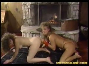 Strap-on vintage lesbian action