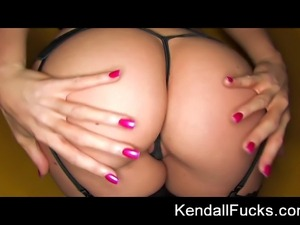 Kendall does a sexy tease with stock fetish feel to it