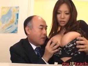 Busty Teacher Ruri Saijo Bounces part2
