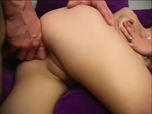 Amateur cute babe attempts anal fuck for the first time with a big cock