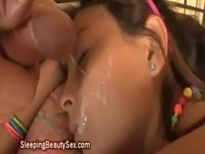 Facial cum while asleep free