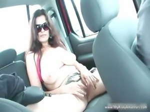 Brunette MILF showing her enormous part1
