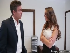 Teal Conrad gets fucked by her boss for being a naughty employee free
