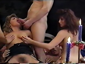 Classic porn orgy
