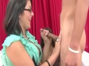 CFNM lady wants the load on her chest free