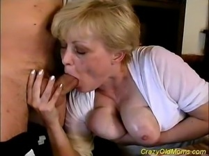 Crazy old milf gets fucked hard