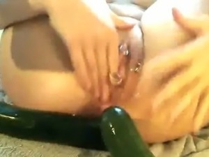 Extreme pussy and anal stretching insertions