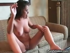 Cute brunette hoe Penny smokes part6