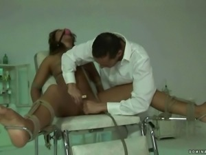 Sexy beauty gets bondaged and punished