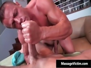 Muscled gay hunk gets fellatio and fucks part4