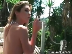 Sexy brunette honey goes outdoor part6