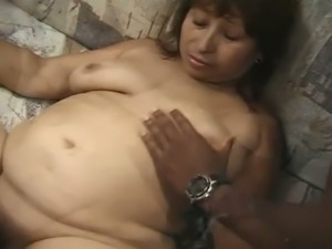 Brunette grandma is certified cum hungry whore