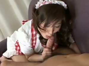 Sexy asian moe yoshikawa playing with a cock