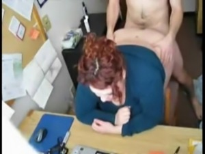 redhead fucking in office