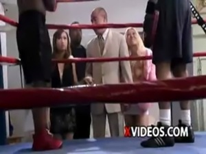 Boss Tell Two Boxers Seduces & Fuck The Promoter In The Ring free