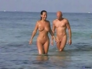 Couple sex on nude beach free